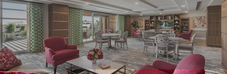 A lounge inside a Robson Senior Living community